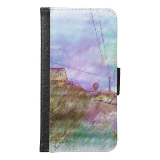 House and road samsung galaxy s6 wallet case