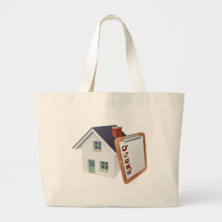 House and Survey Clipboard Concept Large Tote Bag