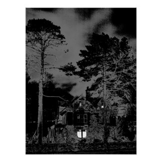 House at Night Poster