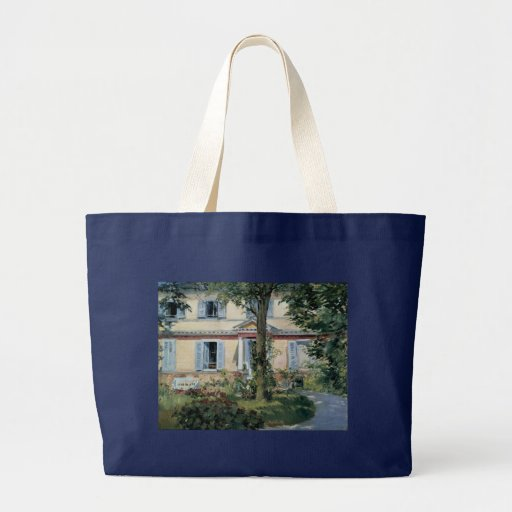 House at Rueil by Edouard Manet Tote Bags
