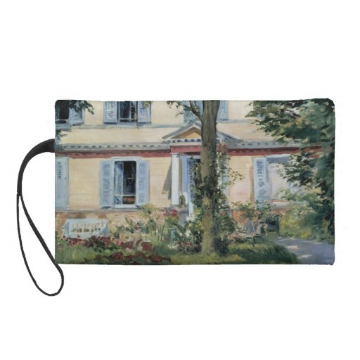 House at Rueil by Edouard Manet Wristlet Purses