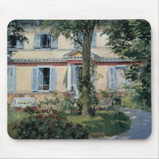 House at Rueil by Edouard Manet Mousepads