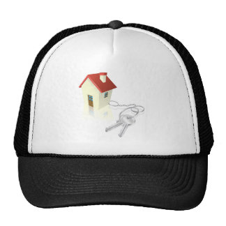 House attached to keys as keyring hat