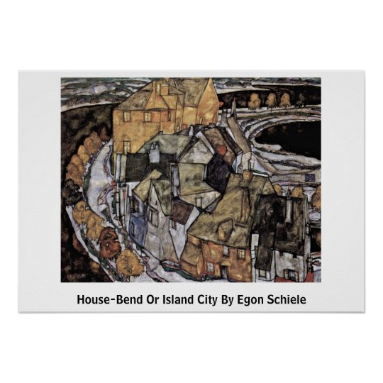 House-Bend Or Island City By Egon Schiele Poster