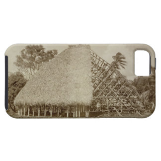 House Building in Samoa, c.1875 (sepia photo) Case For The iPhone 5