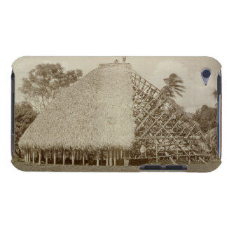 House Building in Samoa, c.1875 (sepia photo) Case-Mate iPod Touch Case