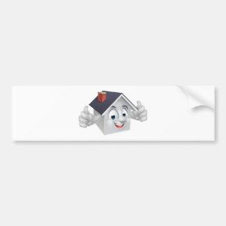 House Cartoon Character Bumper Sticker
