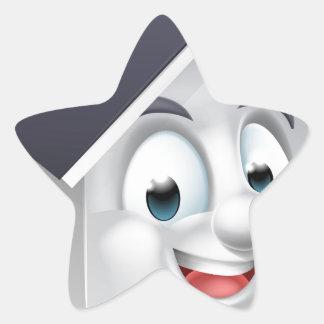 House Cartoon Character Star Sticker