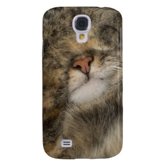 House cat covering eyes while sleeping galaxy s4 case