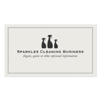 House Cleaning Business Pack Of Standard Business Cards