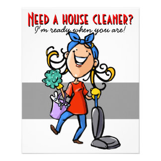 House Cleaning, Custom business promotional. 11.5 Cm X 14 Cm Flyer