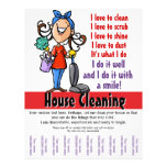 House Cleaning Custom Promotional 21.5 Cm X 28 Cm Flyer