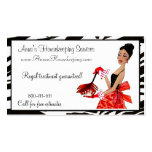House Cleaning Diva / African A. Business Cards