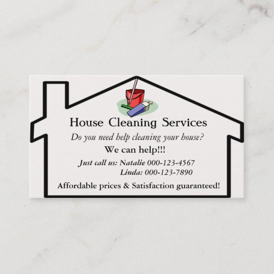 House cleaning services business card template zazzle house cleaning services business card template accmission Gallery