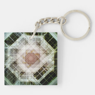 house door acrylic keychain