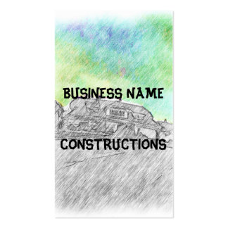 House drawing business cards