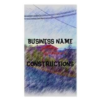 House drawing business card template
