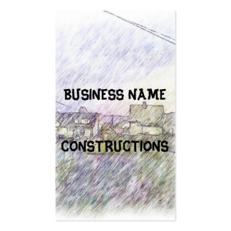House drawing business card templates