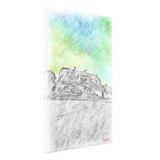 House drawing canvas print
