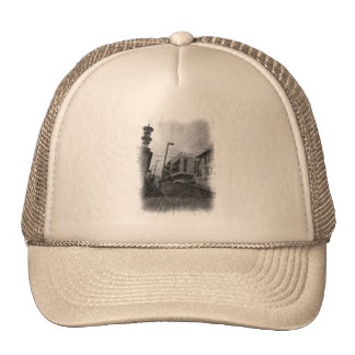 House drawing trucker hat