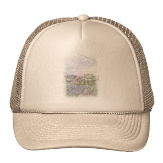 House drawing mesh hat