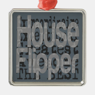 House Flipper Extraordinaire Silver-Colored Square Decoration