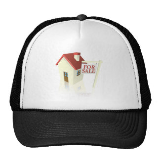 House for sale graphic hat