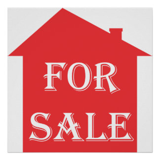 HOUSE FOR SALE POSTERS