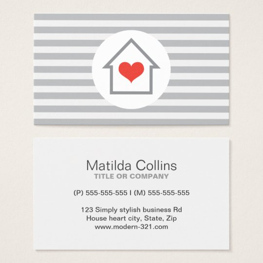 House heart real estate agent interior decorator business
