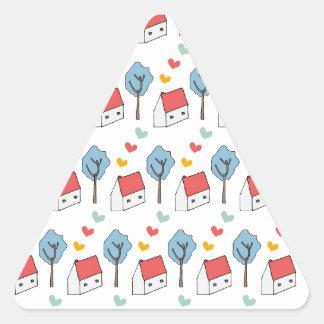 House Hearts Triangle Sticker