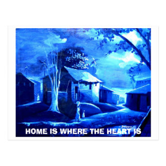 HOUSE, HOME IS WHERE THE HEART IS POSTCARD