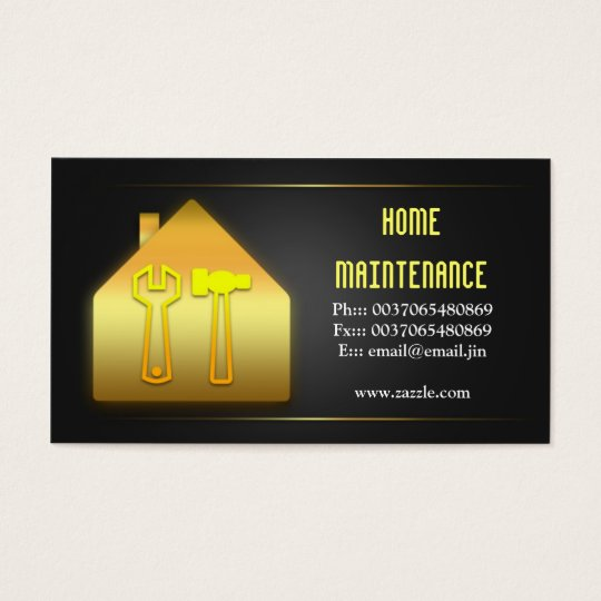 house home maintenance business cards