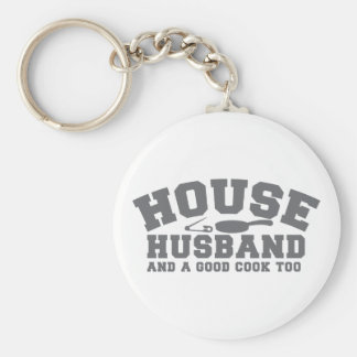 House Husband and a good cook too Basic Round Button Key Ring