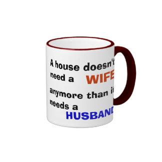House husband? ringer mug