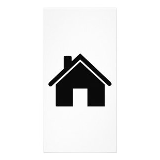 House icon personalized photo card