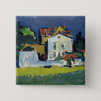 House in a Landscape 15 Cm Square Badge
