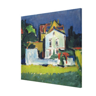 House in a Landscape Canvas Print