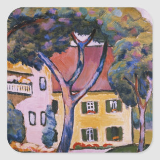 House in a Landscape Square Sticker