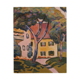 House in a Landscape Wood Wall Art