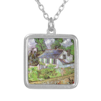 House in Auvers,Vincent van Gogh Silver Plated Necklace