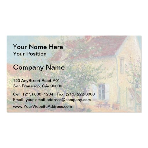 House in the Country by Gustave Loiseau Business Cards