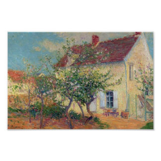House in the Country by Gustave Loiseau Poster