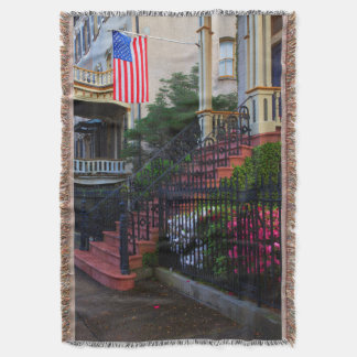 House in the Historic District in the spring Throw Blanket