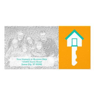 house key personalized photo card
