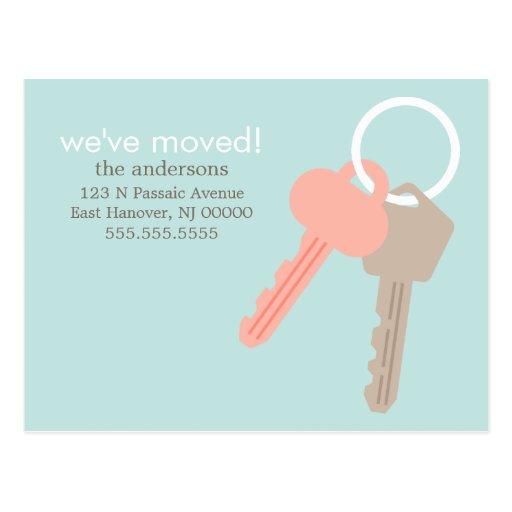 House Keys Moving Announcements Postcard