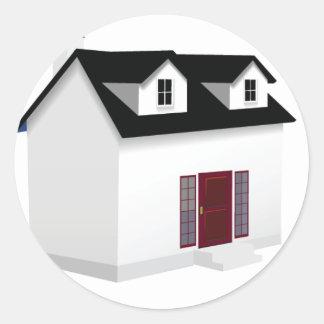 House (Little Home) Round Sticker