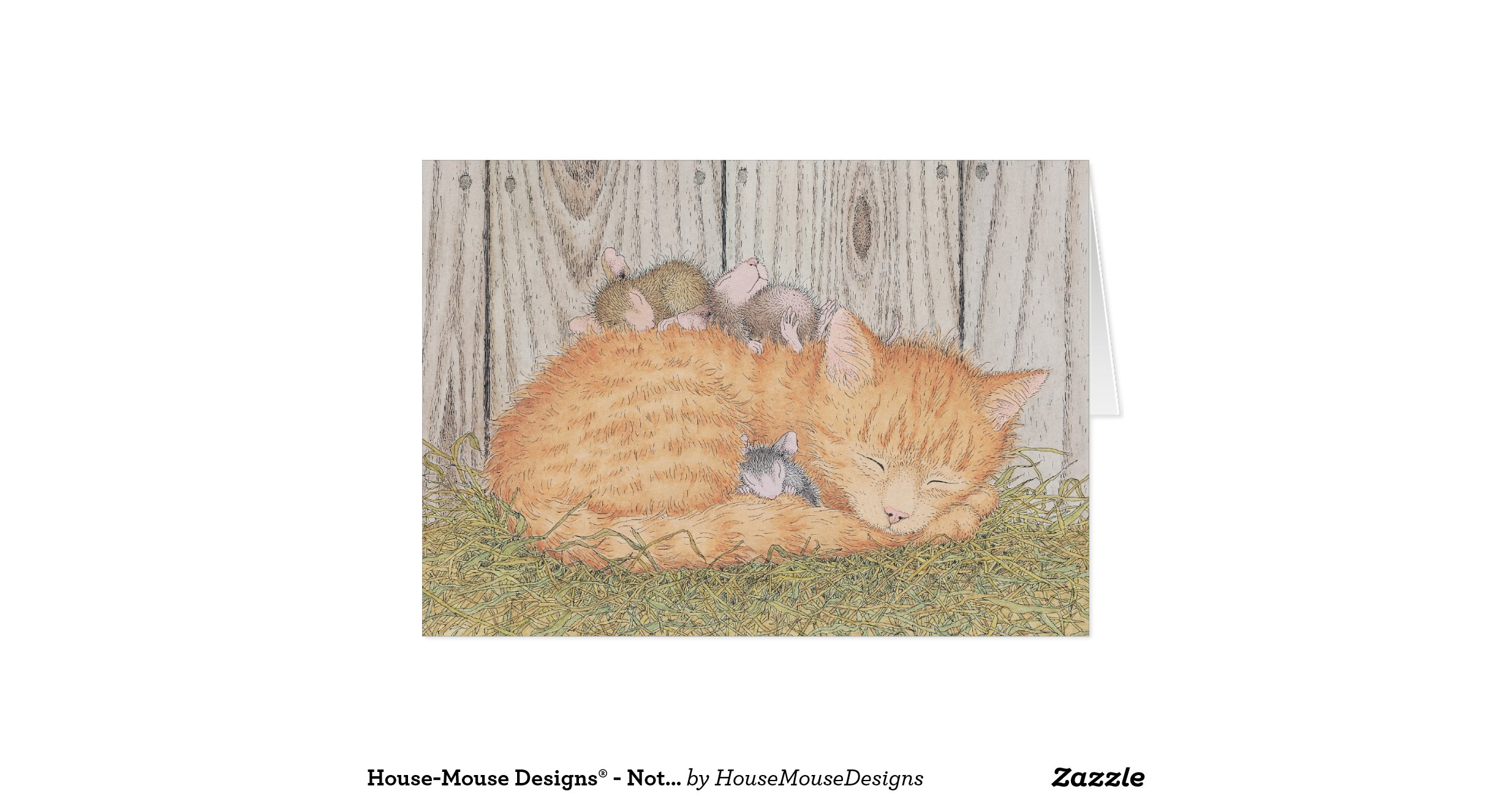 Custom Made Greeting Card House Mouse Designs Notecards