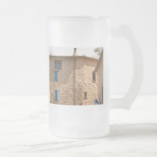 House 16 Oz Frosted Glass Beer Mug