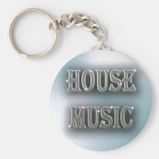 House Music Basic Round Button Key Ring