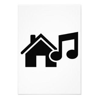 House music note custom invitations